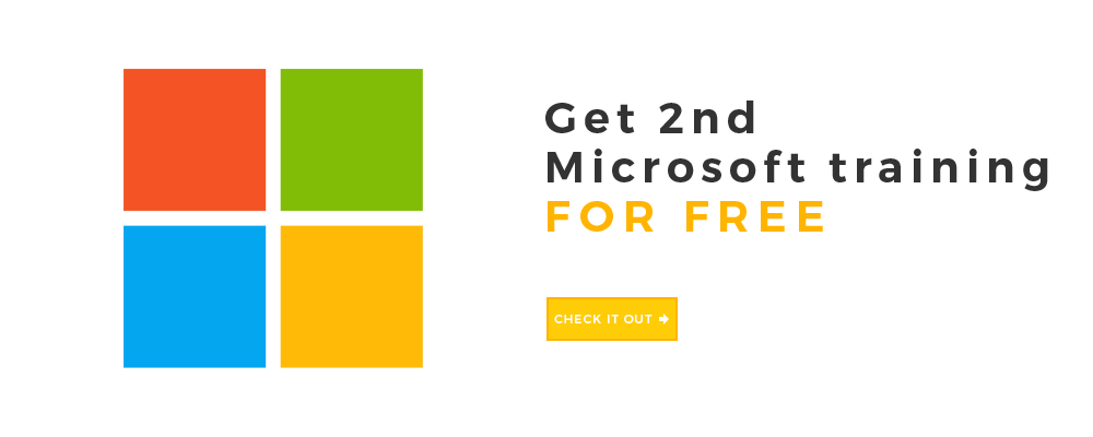 Get the 2nd Microsoft training for free